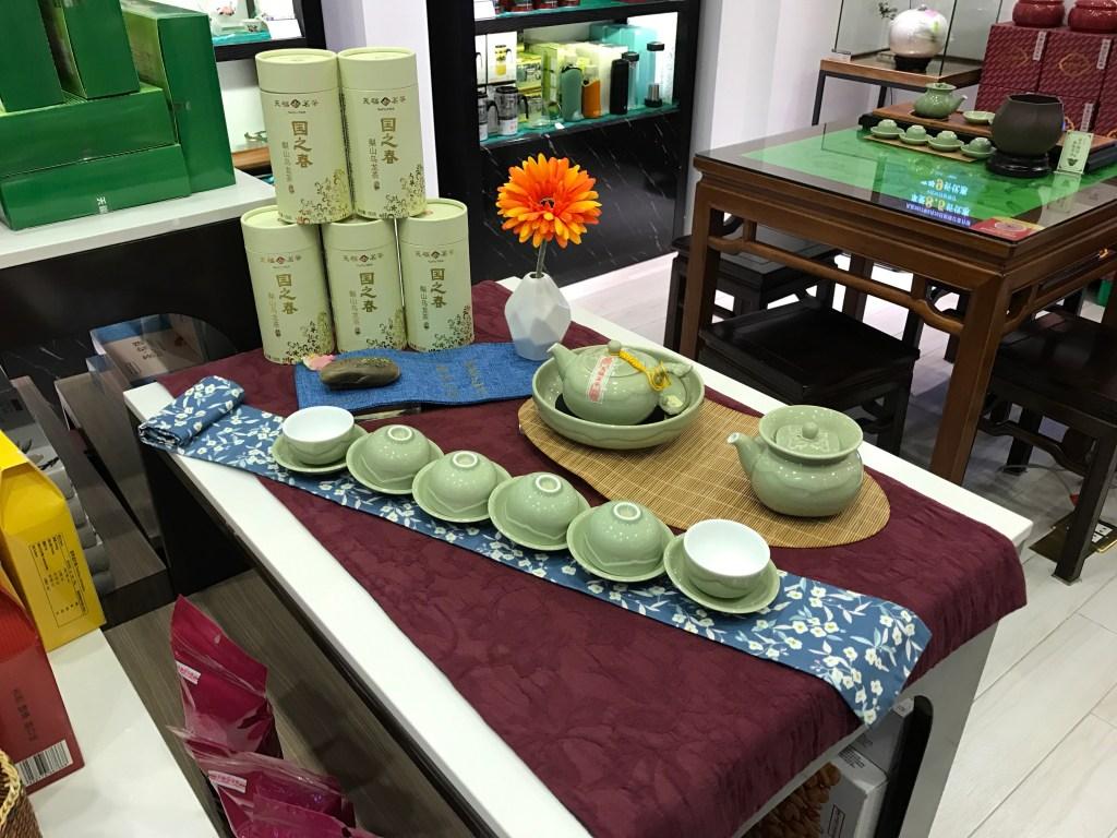 Onde comprar e consumir o chá na China Jogo de cerâmica verde para chá chinês