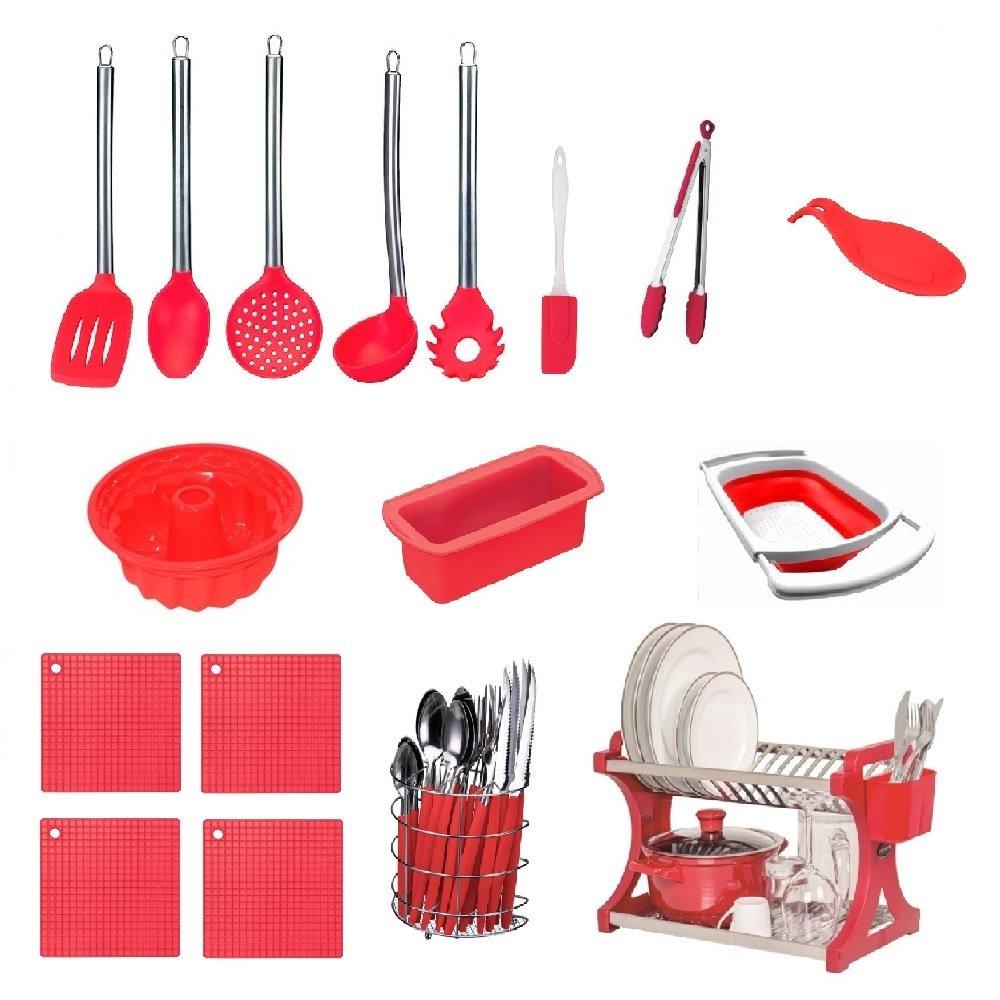 6 Presentes Criativos para Importar da China Artigos para cozinha de silicone vermelho