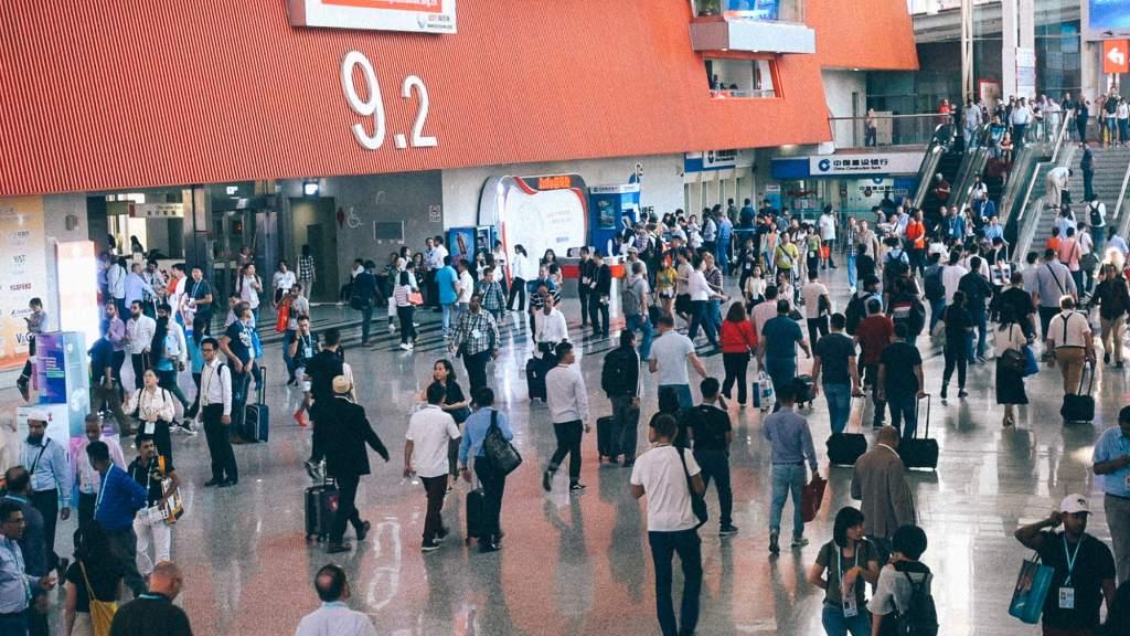 3 melhores ramos para importar em 2019 Imagem de área de tráfego de passageiros no aeroporto da China
