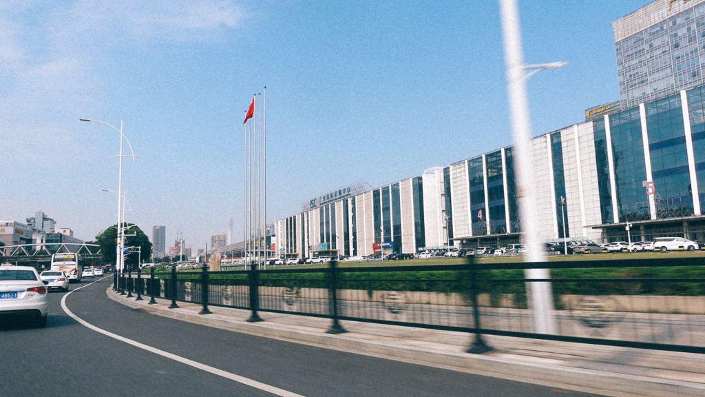 Negócios com a China é o famoso não Visão ao longe de aeroporto internacional de guangzhou