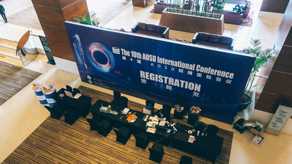 Como importar variedade no mercado de Yiwu Área de entrada e recepção de conferência vista de cima