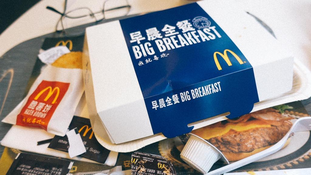 Benefício Fiscal Café da manhã Mcdonald's na China