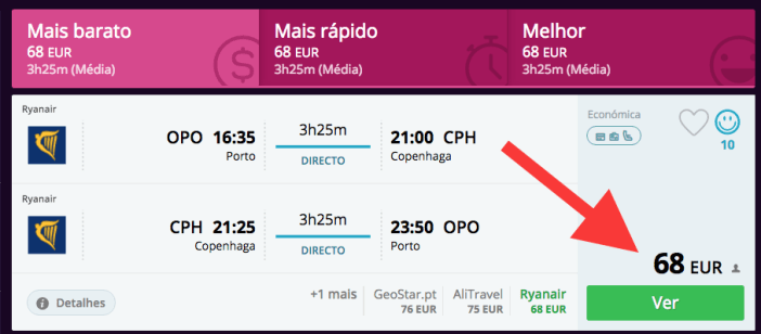 Ryanair com descontos para Copenhaga