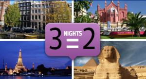 Noites grátis na Europa