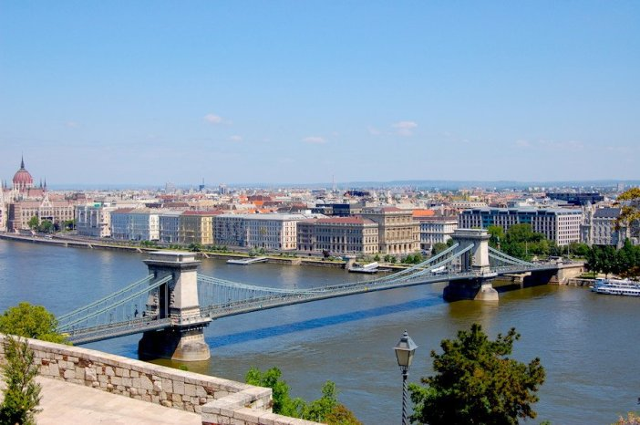 Uma das pontes mais conhecidas de Budapeste