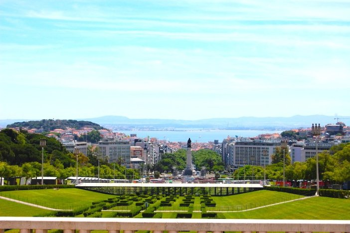 Vistas do topo do Parque Eduardo VII