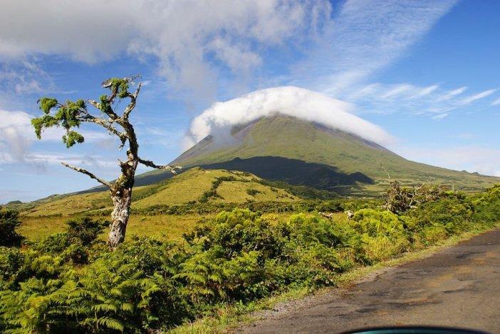 Vistas da montanha do Pico