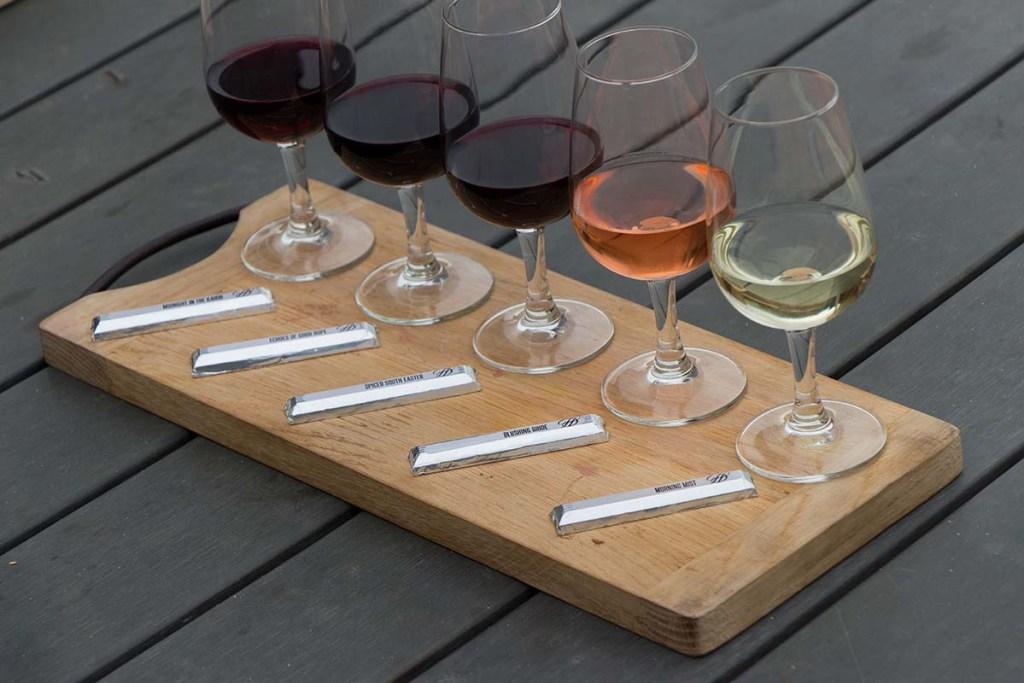 Degustação de vinho com chocolate em Durbanville Hills