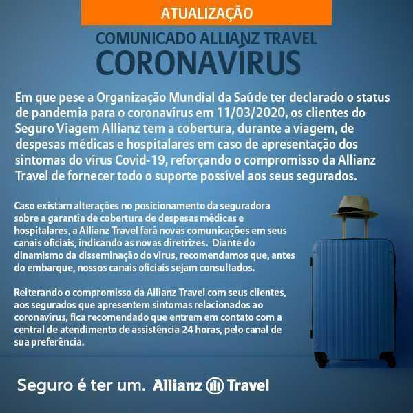 Seguro Viagem e Coronavírus - Allianz Travel