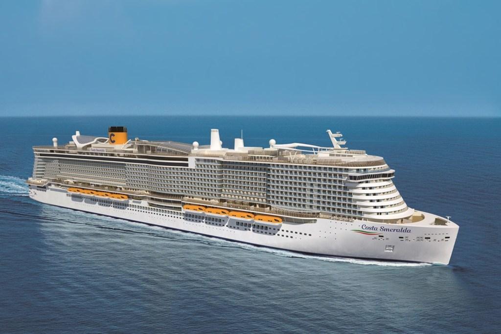 Maiores navios de cruzeiros do mundo - Costa Smeralda