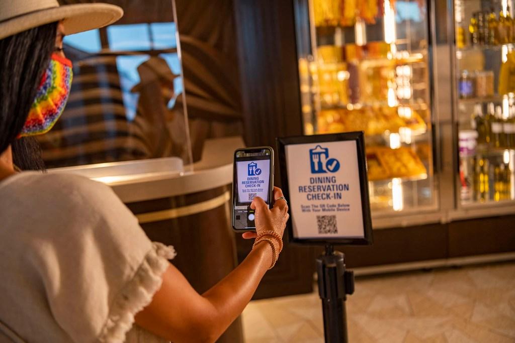 Reabertura Parques da Disney: QR Code nos Restaurantes