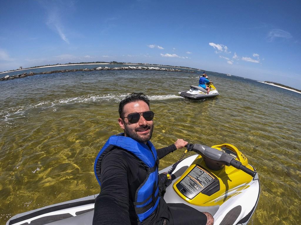 Um passeio de Jet Ski até a Shell Island (Foto: Andy Spinelli)