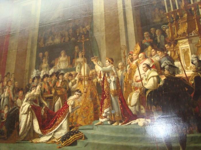 Quadro Coroação de Napoleão Bonaparte em 02/12/1804 como Imperador dos Franceses