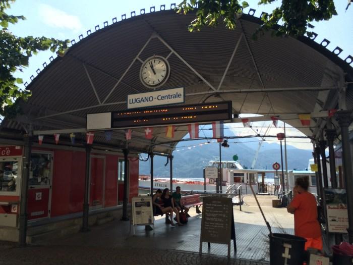 Estação Lugano - Centrale, onde barcos maiores atracam