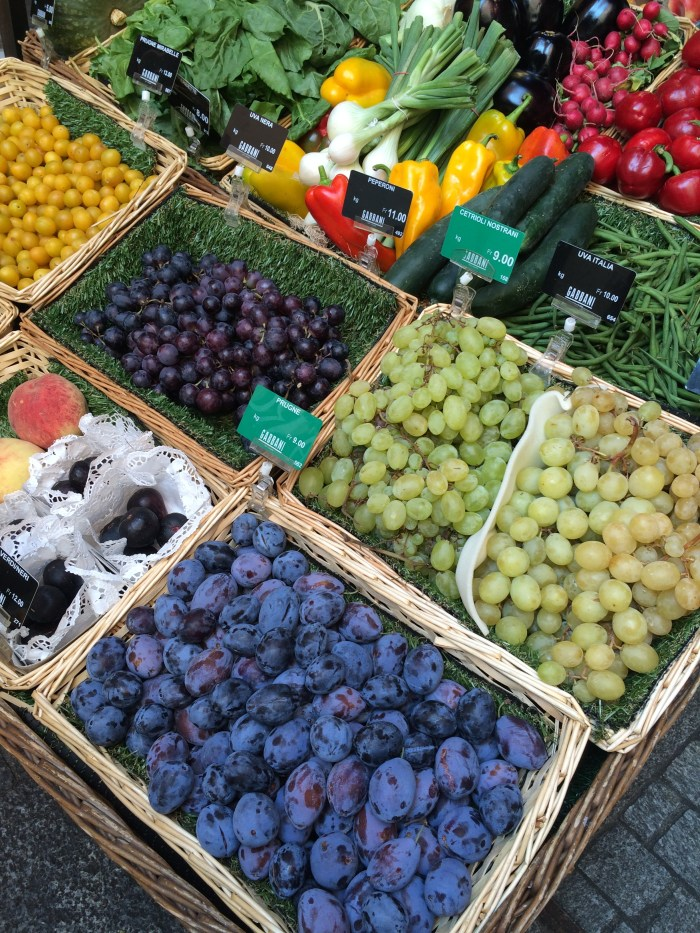 barracas de frutas e legumes