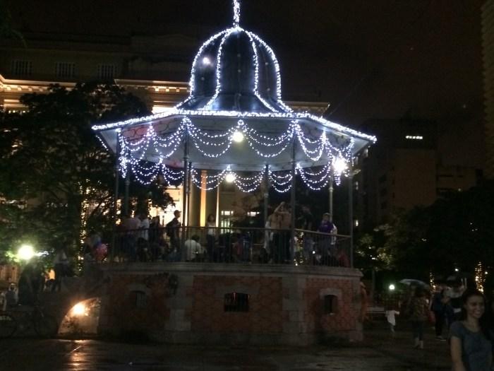 Coreto iluminação Natal Praça da Liberdade