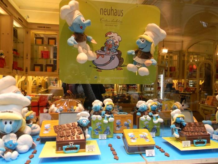 Até em vitrine de loja de chocolates