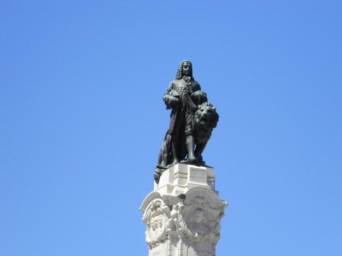 A estátua do Marquês de Pombal