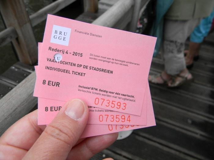 Nossos bilhetes para o passeio