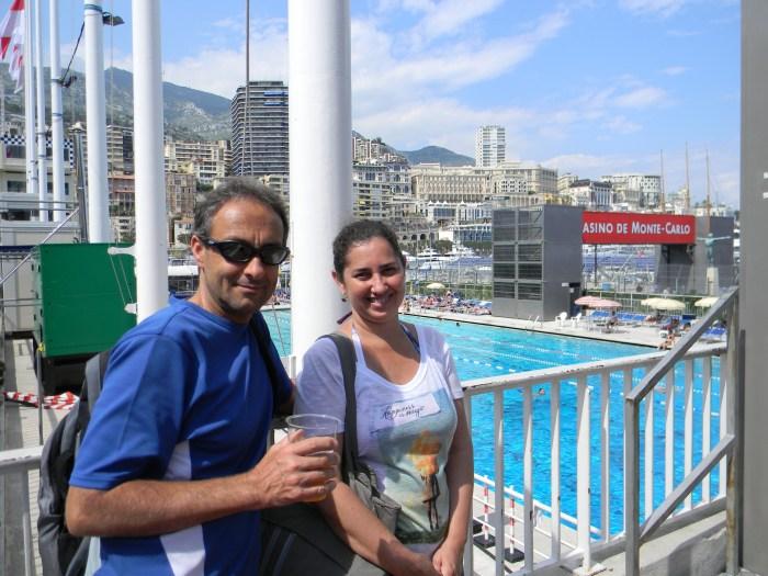Estádio Náutico Rainier III com sua famosa piscina