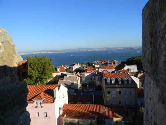 E a vista maravilhosa de Lisboa