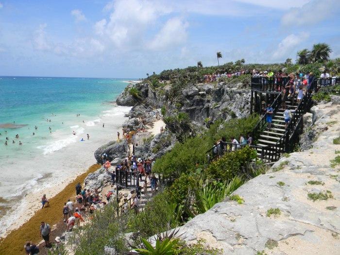 Tulum, Riviera Maya, escadaria para o mar