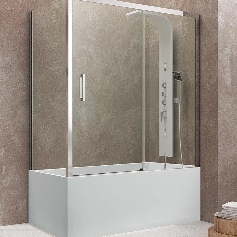 pare baignoire complete d angle pour les baignoires contre mur