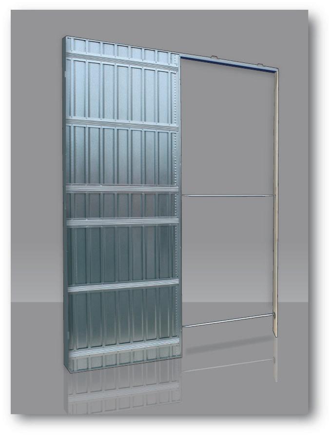chassis doortech simple 100 54 plaque de platre 100x203 kit de finition koto scrigno