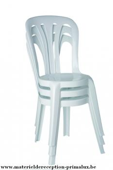 Chaise Plastique Type Bistro Blanche Destockage Grossiste