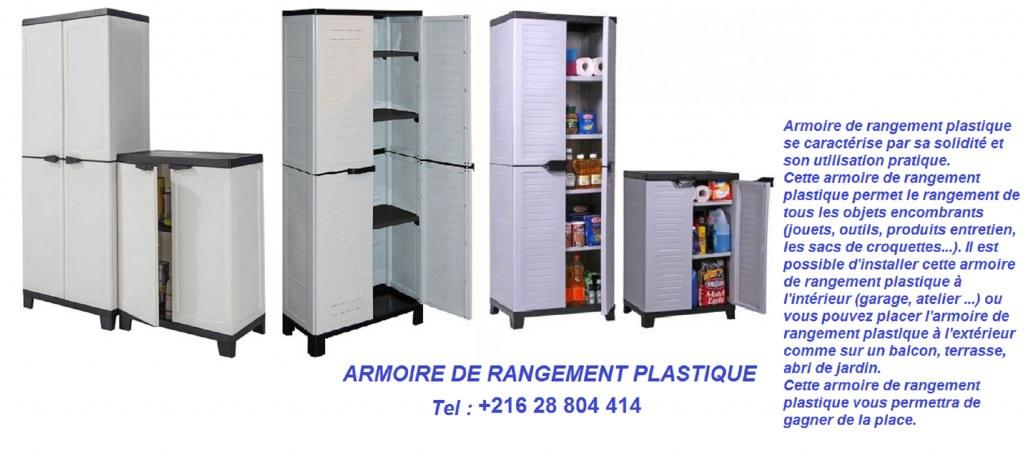 armoire de rangement plastique