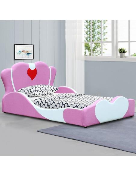 lit fille principessa 90x190 cm rose