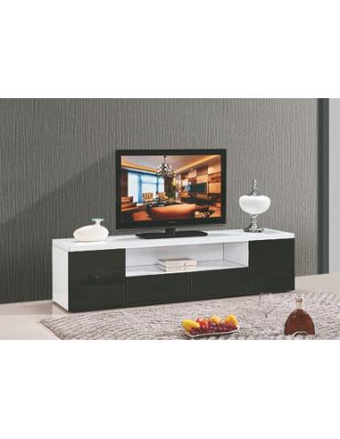 meuble tv artaban mdf laque blanc