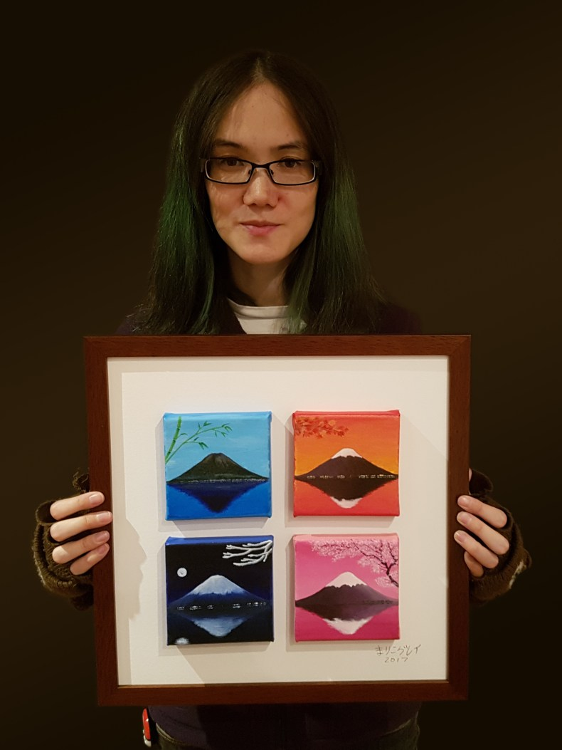 The Colours of Mount Fuji (Framed) by Mariko Gray