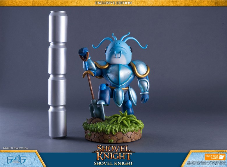 I love this fish-headed Shovel Knight statue | PerezStart