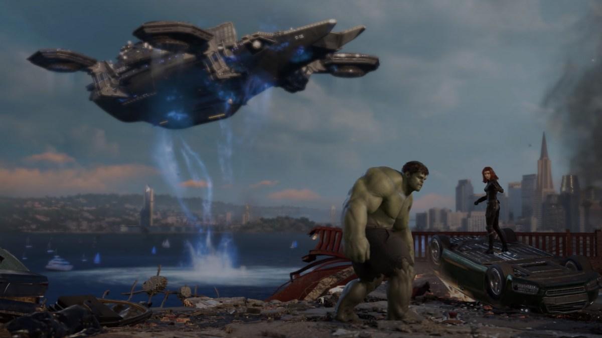 Los vengadores de Marvel Hulk con viuda negra