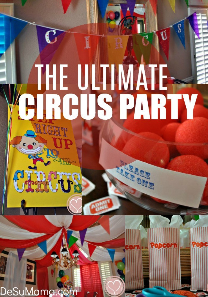 how to throw a circus party