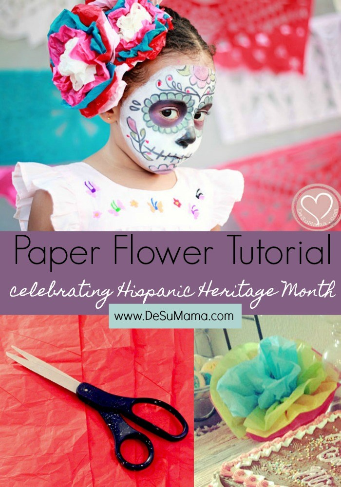 paper flower tutorial for hispanic heritage month