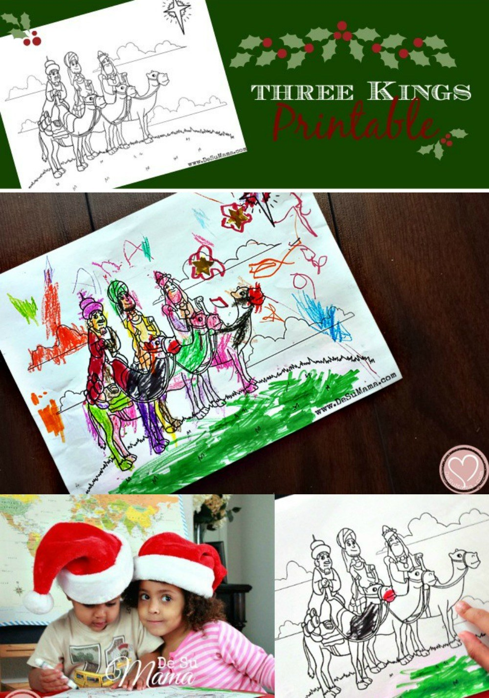 three kings printable free