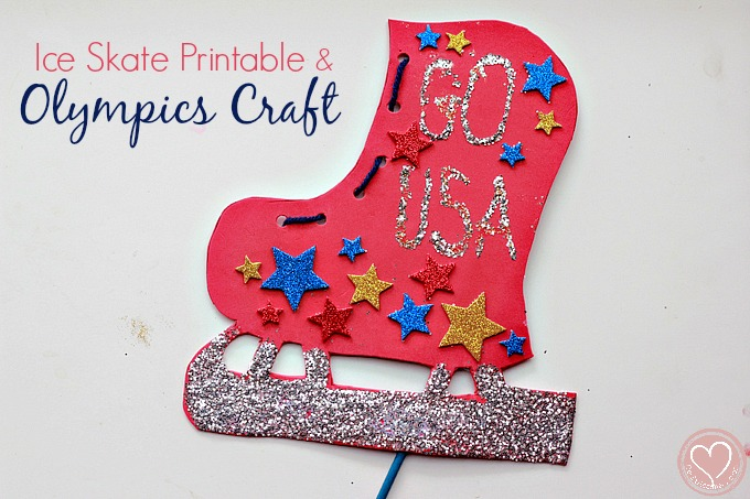 ice skate craft, craft for kids, olympic craft, multiracial parenting, shani davis, winter olympics, black history month