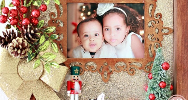 Christmas Photo Memory Shadowbox Craft