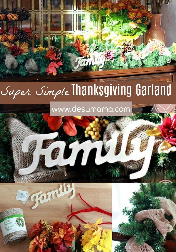simple thanksgiving garland tutorial