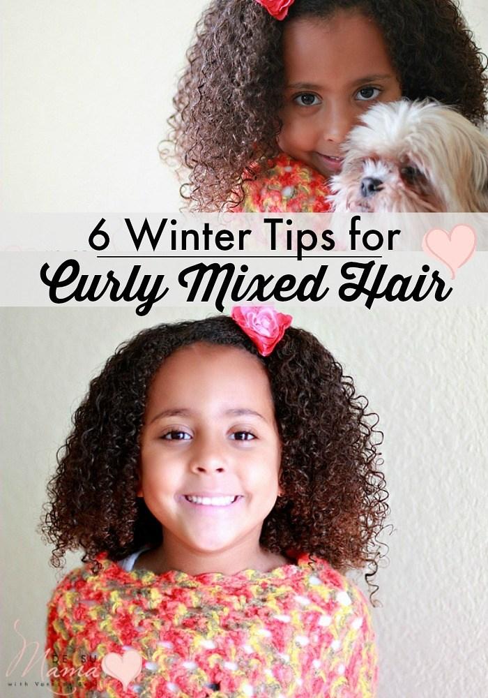 biracial hair, mixed curly hair winter tips