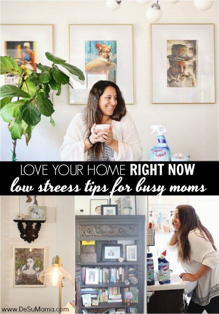 no stress tips to love your home for busy moms