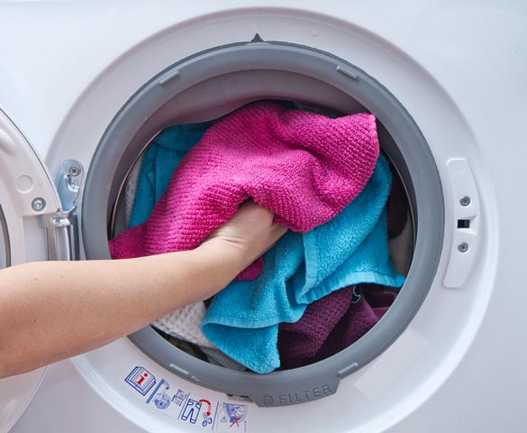 Washing and drying microfiber towels