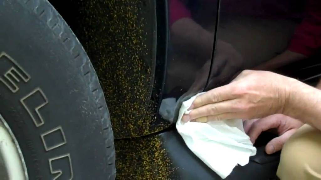 How to remove road paint splatter