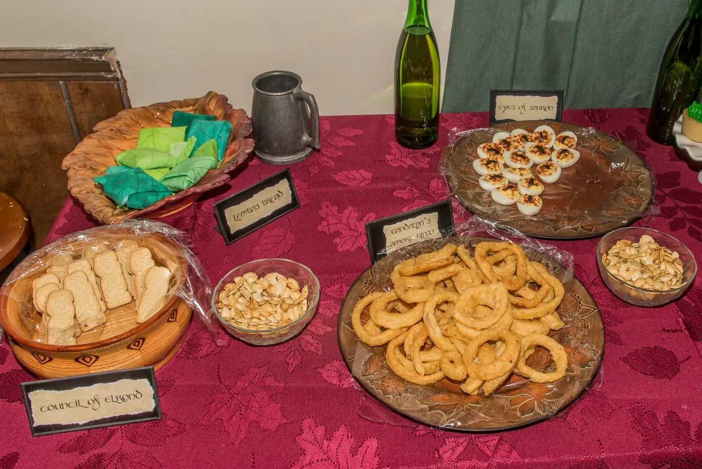 Lord of the Rings Party Menu