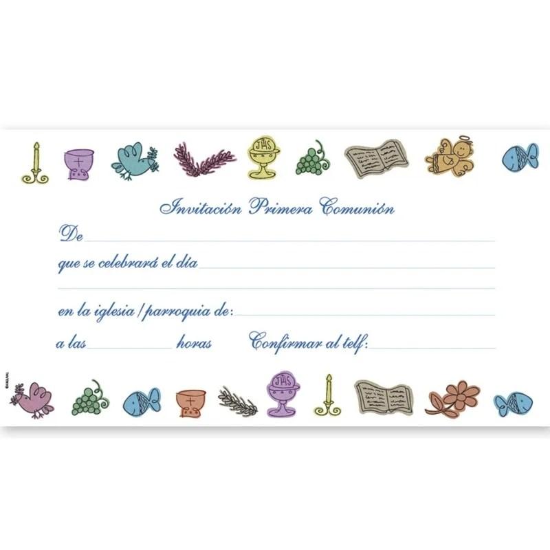 cartes d invitation communion personnalisable