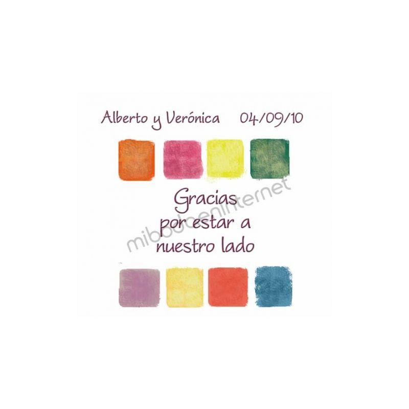 Tarjeta de agradecimiento Boda - B640112