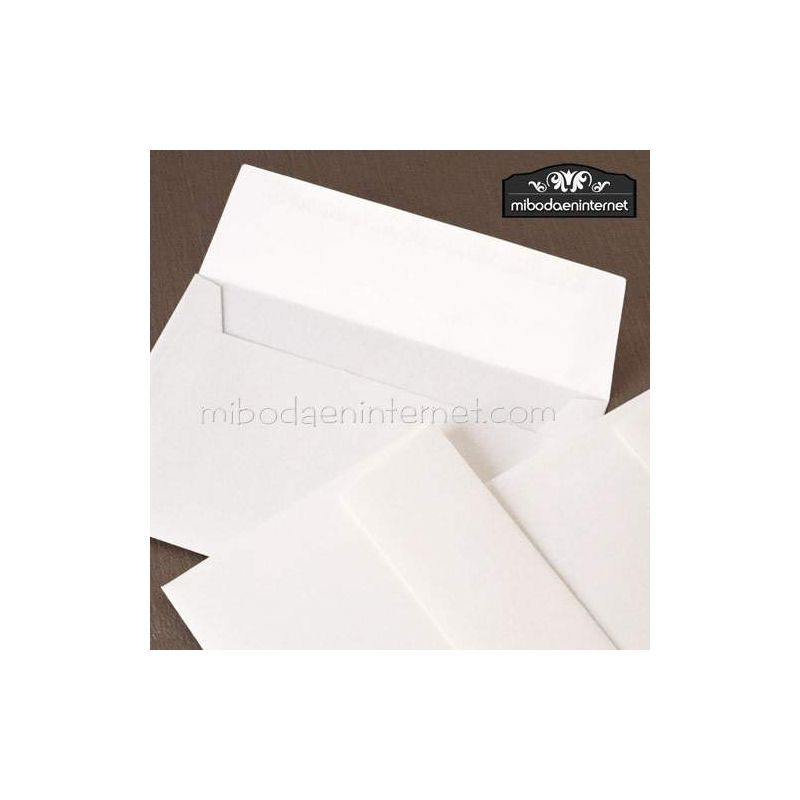 Sobre elegante 12x18 textura blanco roto