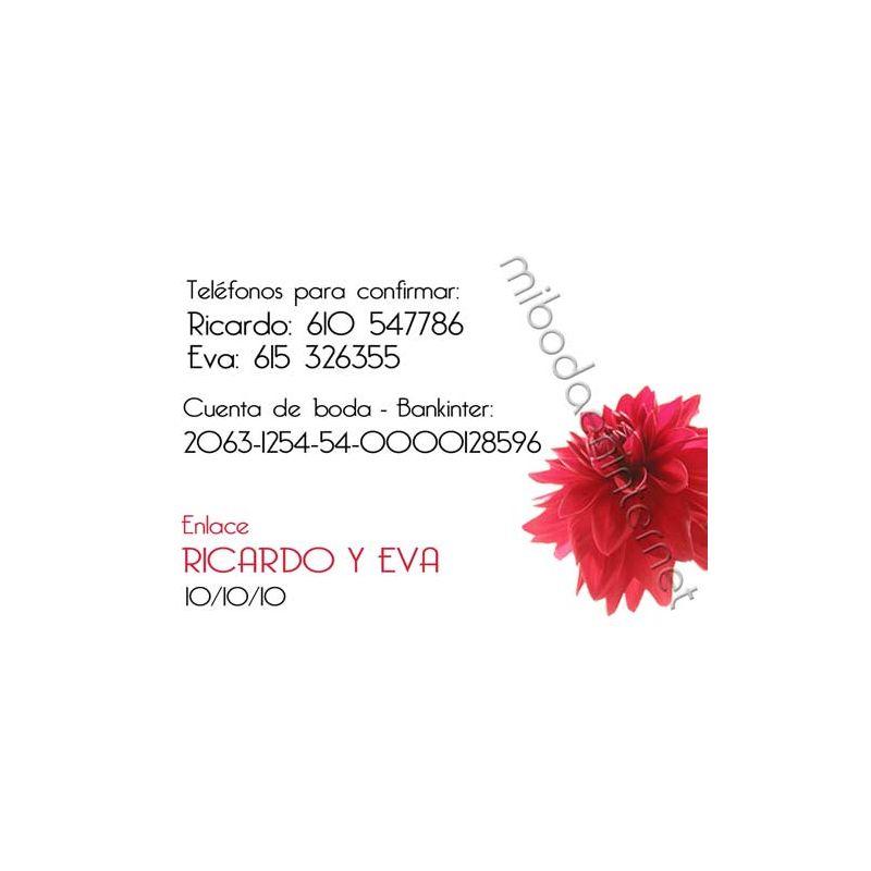 Tarjeta de Datos - B641155